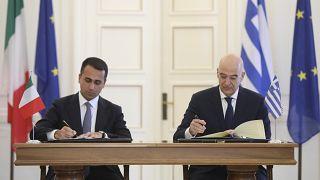 İtalya Dışişleri Bakanı Luigi Di Maio / Yunanistan Dışişleri Bakanı Nikos Dendias