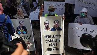 Filistinli engellilerin protestosu