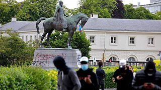 مجسمه لئوپولد دوم در مرکز شهر بروکسل