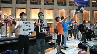 Hong Kong'da demokrasi yanlısı gösteriler tam bir yıldır devam ediyor