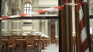 Bibliothèque centrale de Florence (Italie) - capture d'écran vidéo euronews