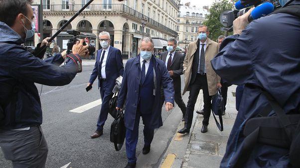 Jean-Michel Aulas, président de l'Olympique Lyonnais, arrive au Conseil d'Etat le 4 juin 2020.