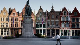 صورة لشوارع بلجيكا خلال فترة الإغلاق