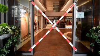 A closed shopping centre in Essen, Germany