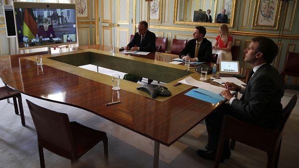 Франко-немецкий саммит прошел в формате видеоконференции