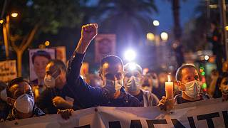 Manifestación de trabajadores de Nissan en Barcelona
