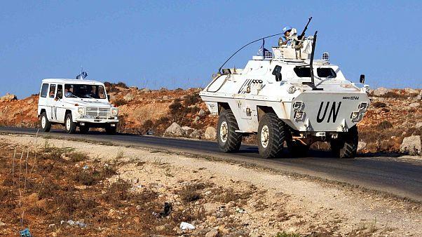 دورية لقوات الأمم المتحدة في لبنان على الخط الأزرق بين لبنان وإسرائيل قرب قرية كفر كلا - 2019/09/01