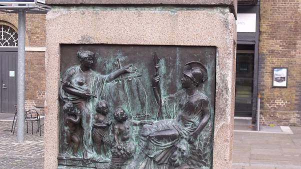 A statue of slave owner RObert Milligan was removed from it splinth in east London on June 9, 2020.