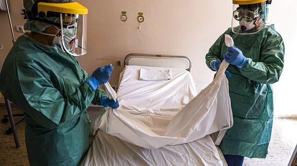 Koronavírusrészleg egy budapesti kórházban