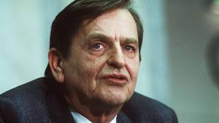 A picture taken on December 12, 1983 shows Swedish politican and Prime minister Olof Palme in Stockholm.