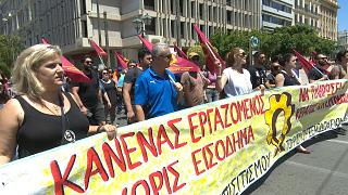 Employees in tourism demonstrate in Athens