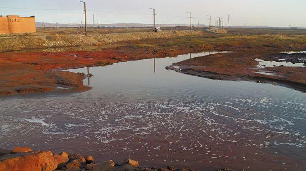 Rusyan'nın Norilsk kentinde meydana gelen petrol sızıntısı