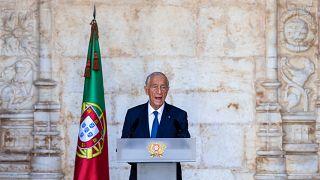 Marcelo Rebelo de Sousa discursa nas cerimónias do 10 de Junho de 2020