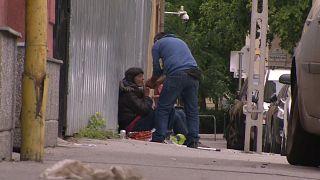 Obdachlose in Budapest