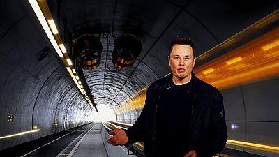 Elon Musk unveiling the Boring Company's Las Vegas tunnels.