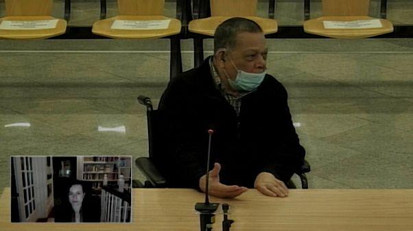 El excoronel Montano durante su declaración ante la Audiencia Nacional