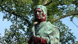 Памятник Колумбу в Ричмонде перед сносом.