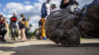 ABD'nin Minnesota eyaletinde yıkılan Sömürgeci, denizci, kolonici Kristof Kolomb