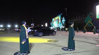 Au Bahreïn, cérémonie de remise des diplômes sur le circuit de Formule 1