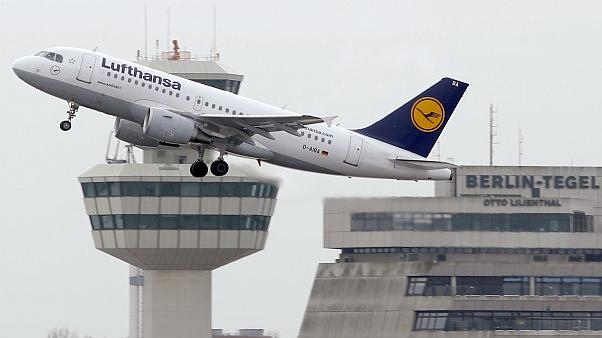 In this Sunday, Jan. 20, 2013 file photo an airplane of the airline 'Lufthansa' lifts off at the airport Tegel in Berlin, Germany.