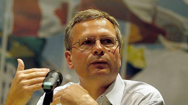 Turkish economist Dani Rodrik, Harvard University's professor, delivers a speech in Cholula, Mexico, 09 October 2003