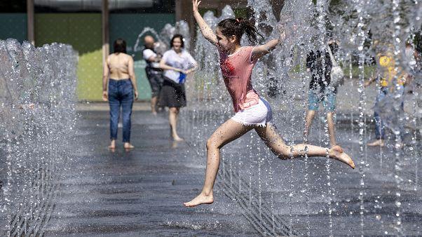 Освежающий фонтан в Москве