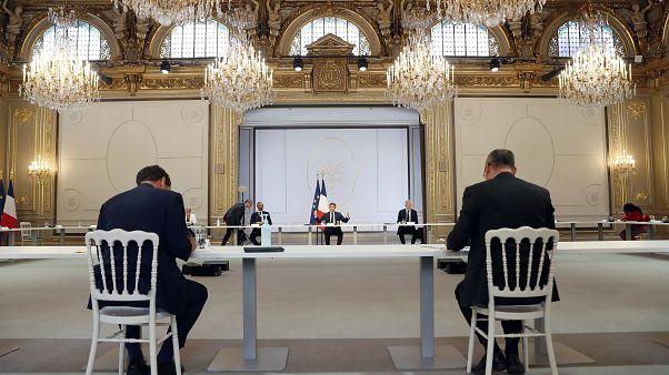 Emmanuel Macron im Élyséepalast