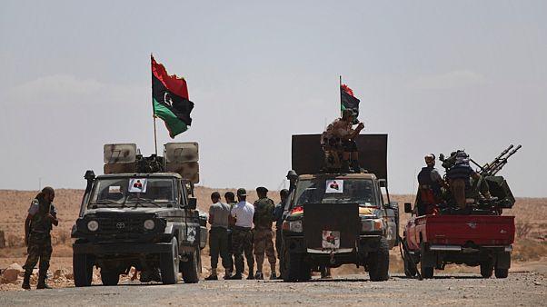 جنود حكومة الوفاق الوطني بالقرب من ترهونة