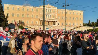 Διαδηλωτές στο κέντρο της Αθήνας