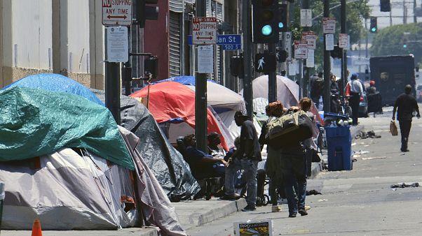 صورة لمشردين في الولايات المتحدة