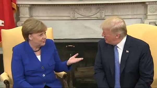 Angela Merkel bei Donald Trump im Weißen Haus