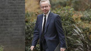 Ministro Michael Gove à chegada à residência oficial do primeiro-ministro, em fevereiro