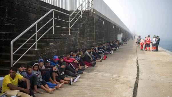 Libya'dan İtalya'da iltica eden mülteciler.