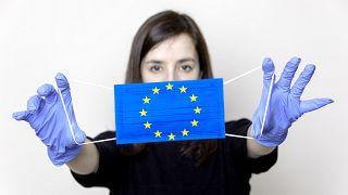 Coronavirus and European flag