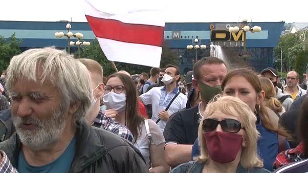Акция протеста оппозиции в Минске