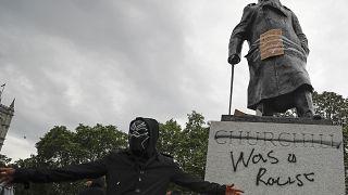 Statua di Churchill a Londra