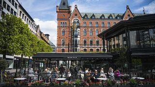 أحد المطاعم في السويد