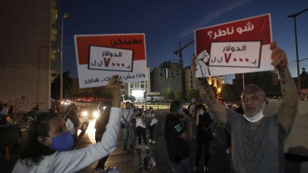 تظاهرات شب گذشته در لبنان