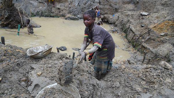 طفلة من جمهورية أفريقيا الوسطى