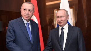 Cumhurbaşkanı Recep Tayyip Erdoğan ve Rusya Devlet Başkanı Vladimir Putin / Ocak 2020