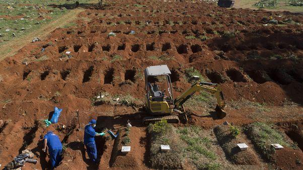 Brezilya'da bir toplu mezar