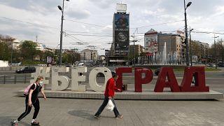 Uno scatto di Belgrado durante la pandemia