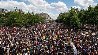Manifestação contra o racismo e a violência policial em Paris