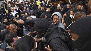 "Manifestantes del movimiento ""Black Lives Matter"" en Londres"