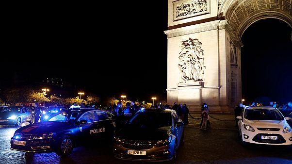 Fransız polislerin protestosu