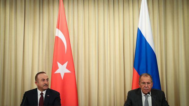 Rus ve Türk Dışişleri Bakanları (Rusya)