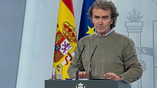 Fernando Simón dirige le Centre de coordination des urgences sanitaires du ministère de la Santé espagnol, le 02 mai 2020