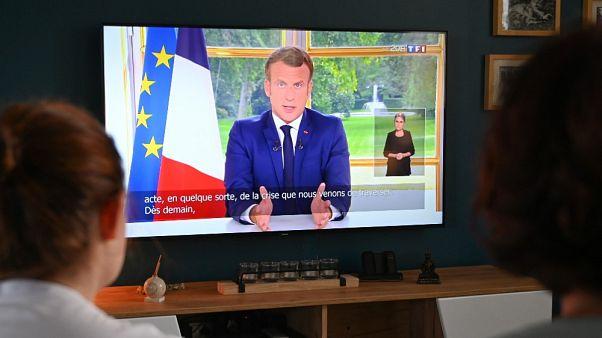 Il discorso di Macron alla nazione, trasmesso in diretta televisiva