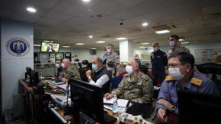 غرفة العمليات العسكرية في وزارة الدفاع التركية