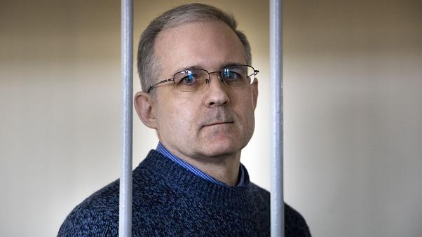 FILE- In this Aug. 23, 2019, file photo, Paul Whelan, a former U.S. marine who was arrested for alleged spying in Moscow on Dec. 28, 2018